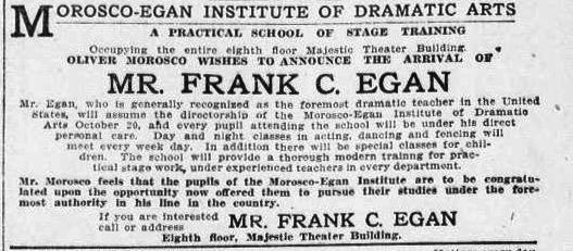 Egan School Ad LA Herald 1909 copy