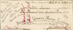 Granfather Uphoff's signature on mining certificate