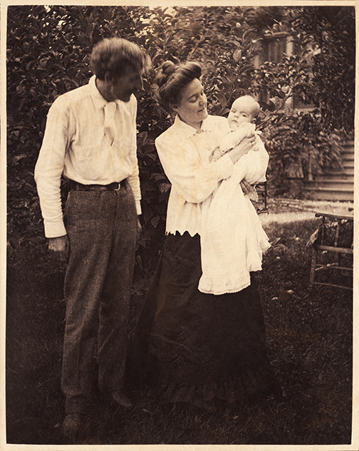 3-month-old Ursula and her parents