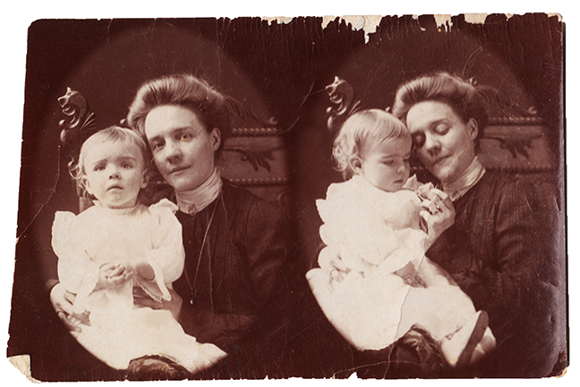 Ursula at age 1, with Mama Clara