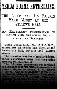 Odd Fellows Entertains