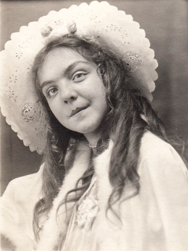 Elegant 8-year-old Ursula, at the age she would have been when she and her parents toured the northwestern United States