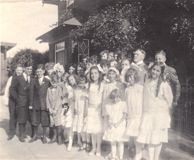 Thomas Taylor Drill's Children's Choir. Ursula is in the front row, center.