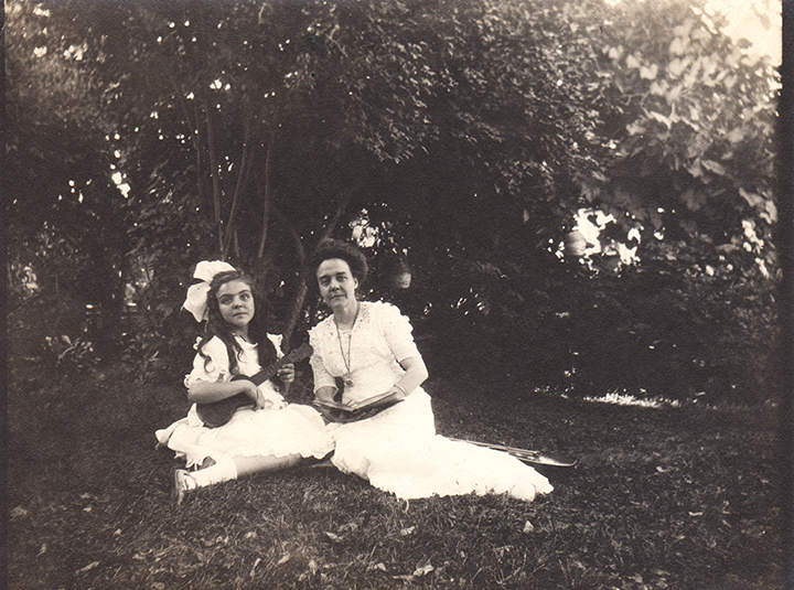 Ursula and Clara in Grass Valley Garden. Ursula's father had just recently died.