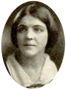 Ursula's Zeta Tau Alpha portrait that appeared in the UC Berkeley yearbook covering the 1923-24 school year.