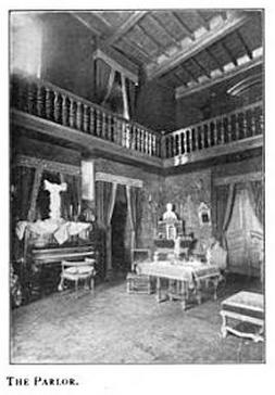 The parlor at Château Cabrières