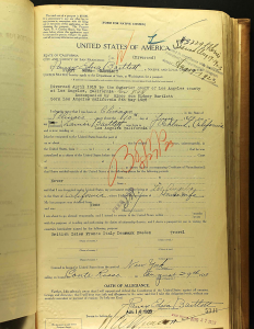 Pansy Edna Bartlett's 1923 passport application