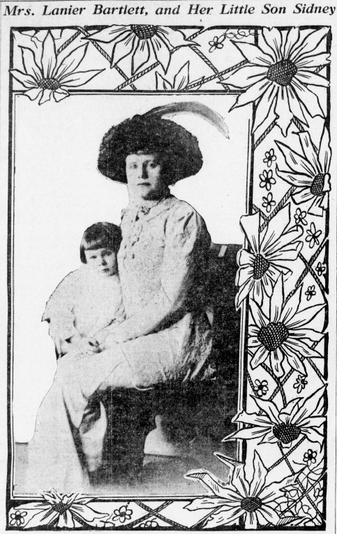 A young Sidney with his mother, published in the society column of the Los Angeles Herald (May 30, 1909)