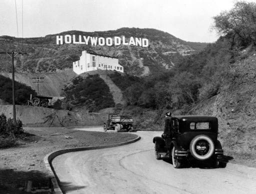 "The precursor to the iconic ""Hollywood"" sign was erected in 1923"