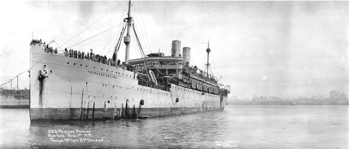 U.S.S. Princess Matoika, 1919