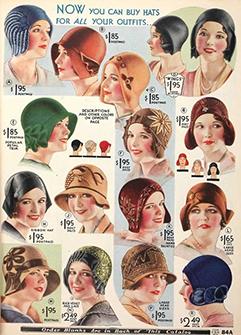 cloche hats 1920s