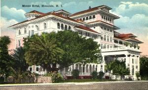 Vintage postcard of Moana Hotel