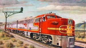 Santa Fe Train illustration