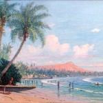 1928 Painting of Waikiki Beach
