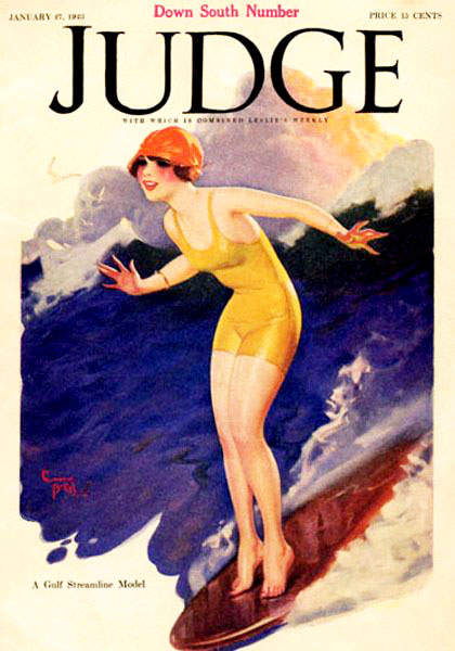 1923 female surfer