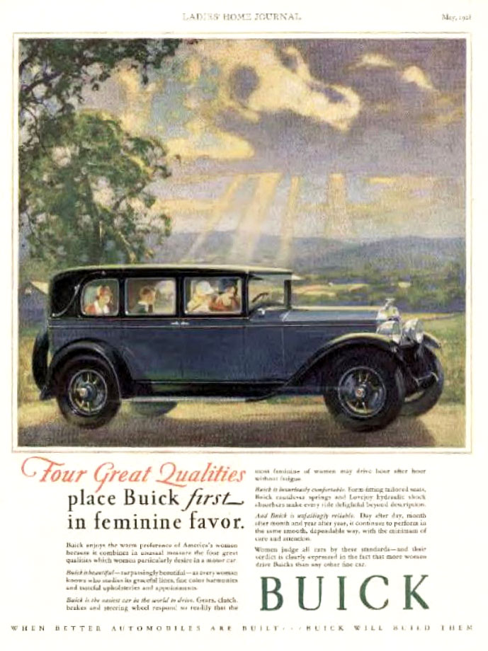 1928 Buick ad