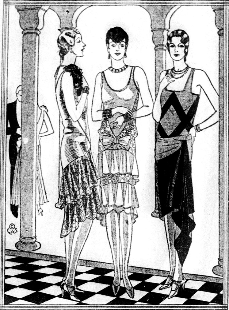 Evening gown ad 1928