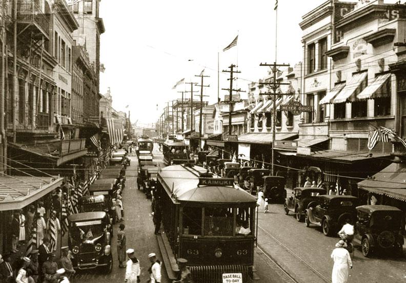 1925 Honolulu streetcar