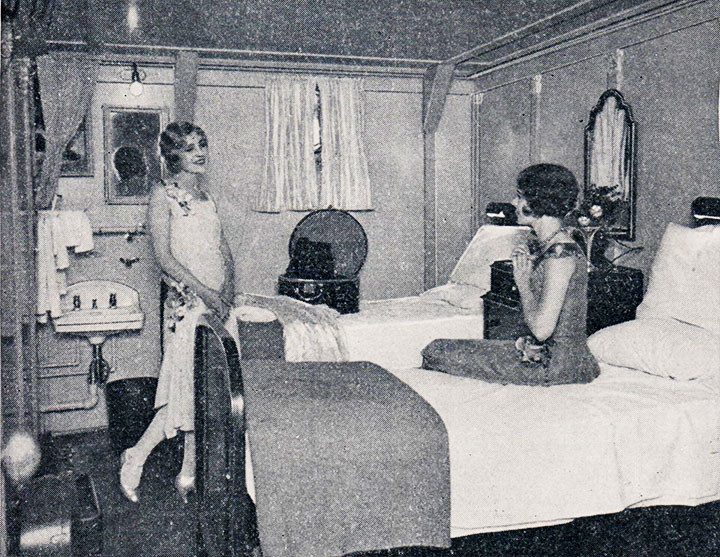 A typical double stateroom