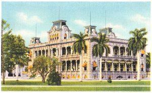 Iolani Palace postcard