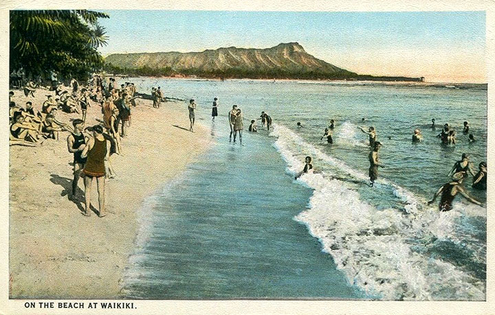 Waikiki Beach in 1928