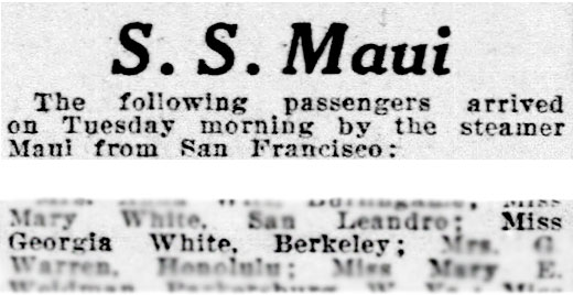 S.S. Maui passengers