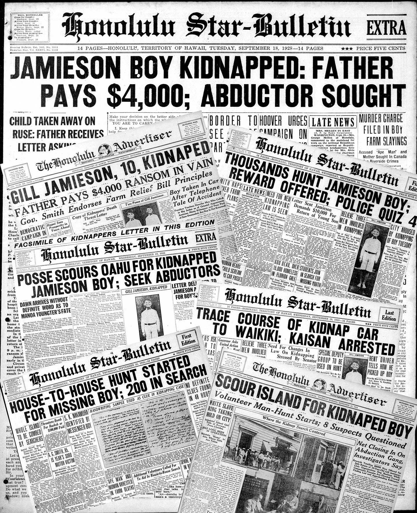 Gill Jamieson kidnapping headlines